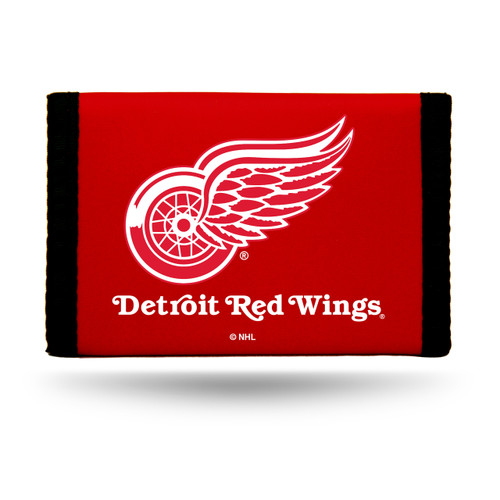 Detroit Red Wings Nylon Trifold Wallet