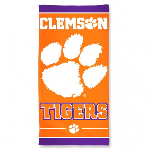 Clemson Tigers Beach Towel - New Design