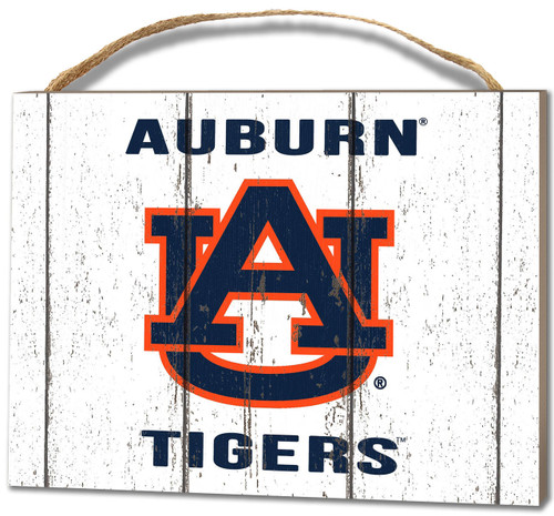 Auburn Tigers Small Plaque - Weathered Logo