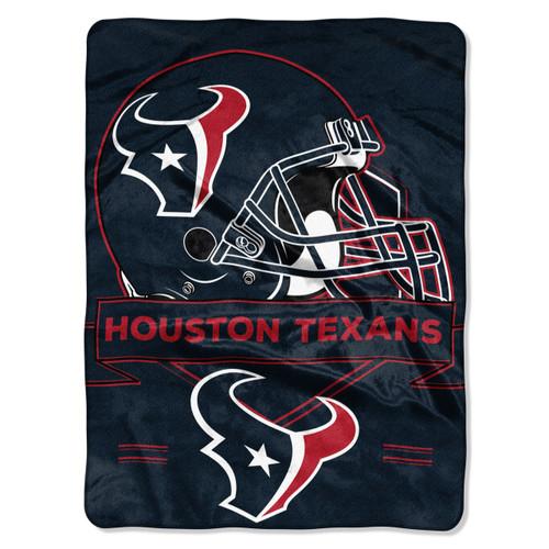 Houston Texans Blanket 60x80 Raschel Prestige Design