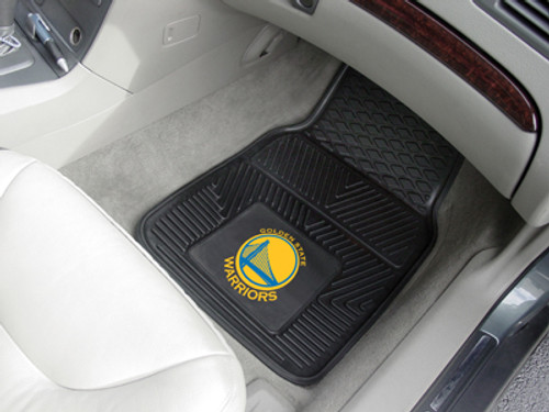 Golden State Warriors Heavy Duty 2-Piece Vinyl Car Mats