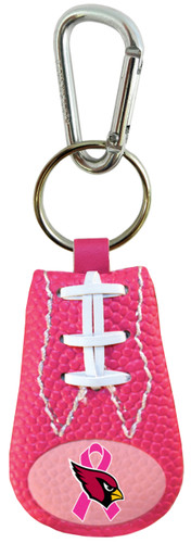 Arizona Cardinals Breast Cancer Awareness Ribbon Pink NFL Football Keychain