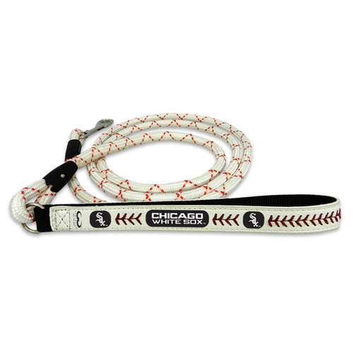 Chicago White Sox Frozen Rope Baseball Leather Leash - L