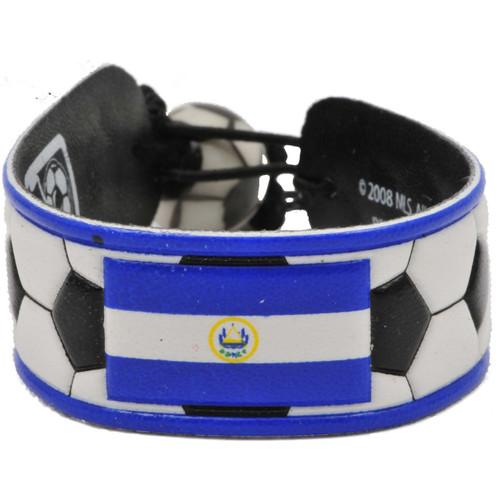 El Salvador Flag Classic Soccer Bracelet