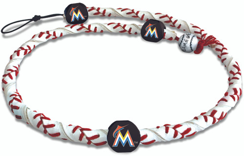 Miami Marlins Classic Frozen Rope Baseball Necklace