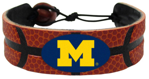 Michigan Wolverines Classic Basketball Bracelet