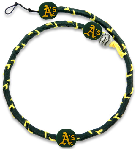 Oakland Athletics Team Color Frozen Rope Baseball Necklace