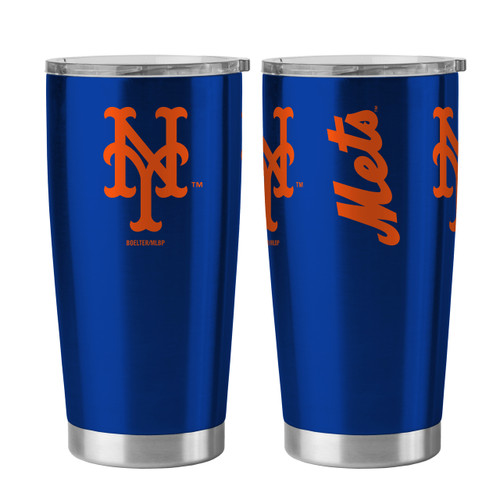 New York Mets Travel Tumbler 20oz Ultra Blue