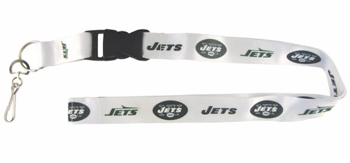 New York Jets Lanyard - Breakaway with Key Ring - Retro Style