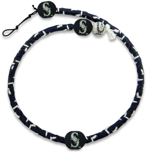 Seattle Mariners Team Color Frozen Rope Baseball Necklace