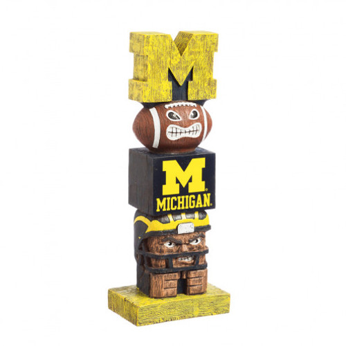 Michigan Wolverines Tiki Totem