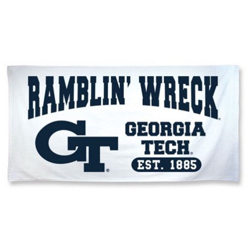 Georgia Tech Yellow Jackets Beach Towel - 30 in x 60 in - Spectra Style