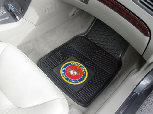 US Marines Car Mats - Heavy Duty 2-Piece Vinyl