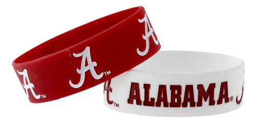 Alabama Crimson Tide Bracelets 2 Pack Wide
