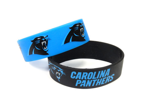 Carolina Panthers Bracelets 2 Pack Wide
