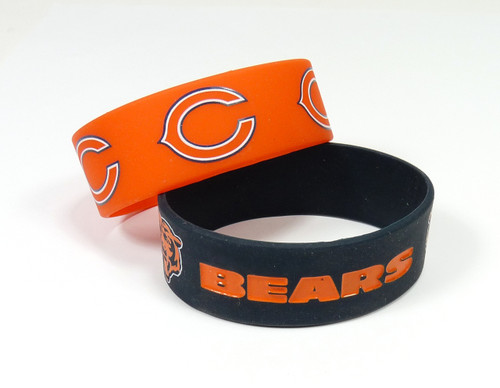Chicago Bears Bracelets 2 Pack Wide