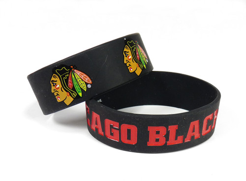 Chicago Blackhawks Bracelets 2 Pack Wide