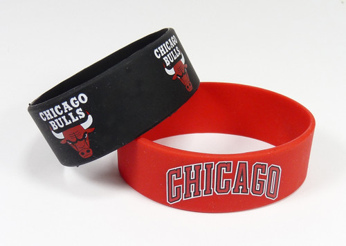 Chicago Bulls Bracelets 2 Pack Wide