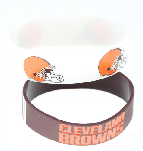 Cleveland Browns Bracelets 2 Pack Wide