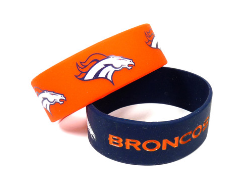 Denver Broncos Bracelets 2 Pack Wide