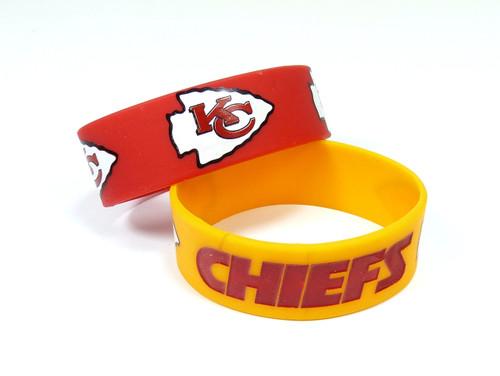Kansas City Chiefs Bracelets 2 Pack Wide