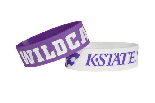 Kansas State Wildcats Bracelets - 2 Pack Wide