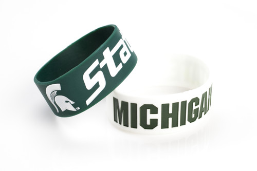Michigan State Spartans Bracelets 2 Pack Wide