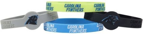 Carolina Panthers Bracelets 4 Pack Silicone