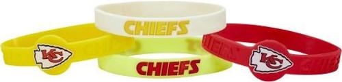 Kansas City Chiefs Bracelets 4 Pack Silicone