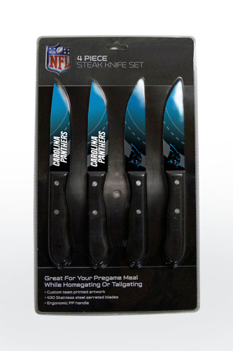 Carolina Panthers Knife Set - Steak - 4 Pack