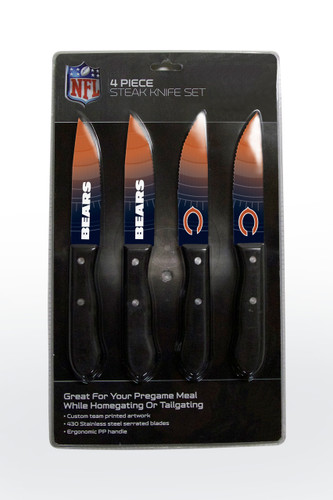 Chicago Bears Knife Set - Steak - 4 Pack