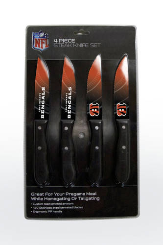 Cincinnati Bengals Knife Set - Steak - 4 Pack