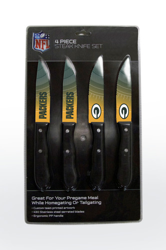 Green Bay Packers Knife Set - Steak - 4 Pack
