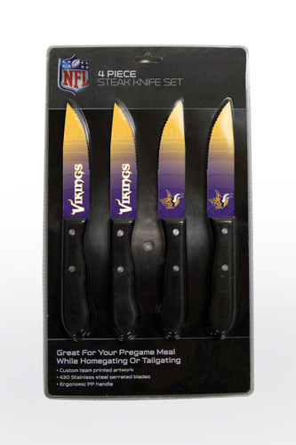 Minnesota Vikings Knife Set - Steak - 4 Pack