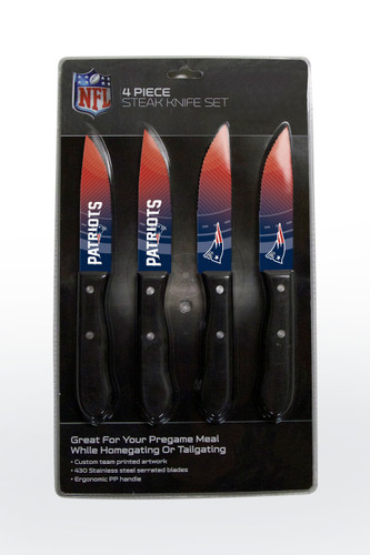 New England Patriots Knife Set - Steak - 4 Pack