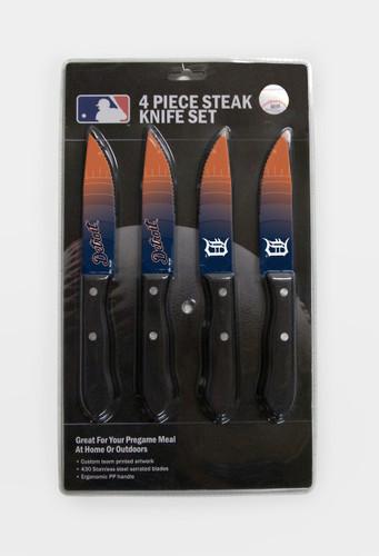 Detroit Tigers Knife Set - Steak - 4 Pack