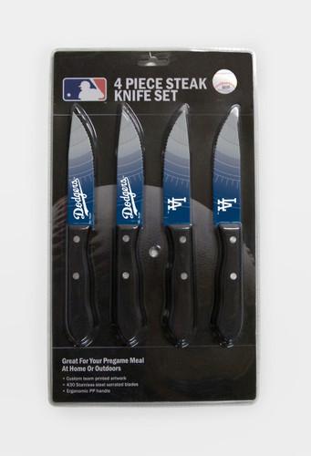 Los Angeles Dodgers Knife Set - Steak - 4 Pack