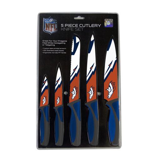 Denver Broncos Knife Set - Kitchen - 5 Pack