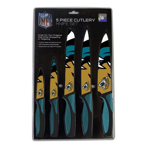 Jacksonville Jaguars Knife Set - Kitchen - 5 Pack