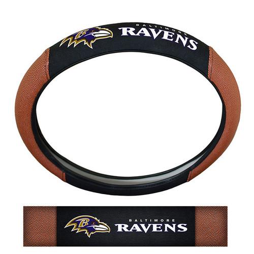 Baltimore Ravens Steering Wheel Cover - Premium Pigskin