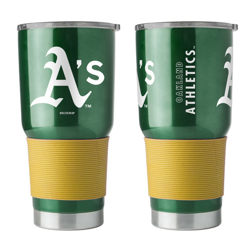 Oakland Athletics Travel Tumbler 30oz Ultra Green