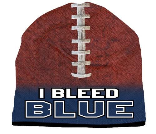 I Bleed Beanie - Sublimated Football - Navy Blue