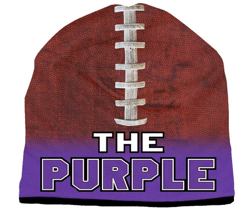 The Purple Beanie - Sublimated Football