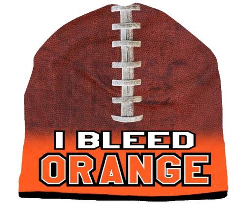 I Bleed Beanie - Sublimated Football - Orange