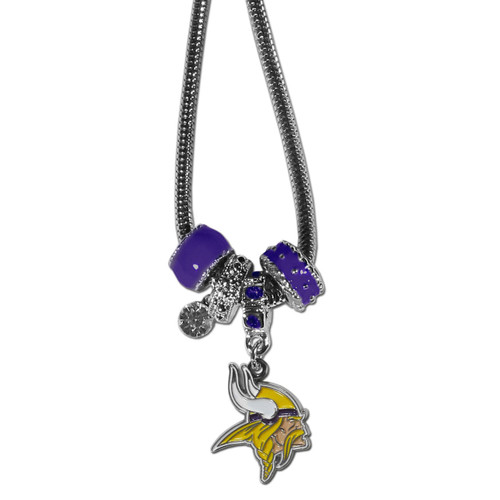 Minnesota Vikings Necklace - Euro Bead