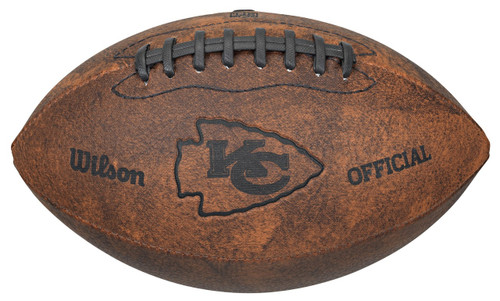 Kansas City Chiefs Football - Vintage Throwback - 9 Inches