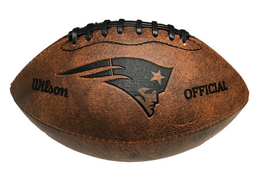 New England Patriots Football - Vintage Throwback - 9 Inches