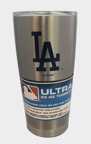 Los Angeles Dodgers Travel Tumbler 20 oz Ultra Flared Silver