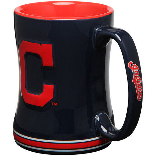 Cleveland Indians Coffee Mug 14oz Sculpted Relief C Logo