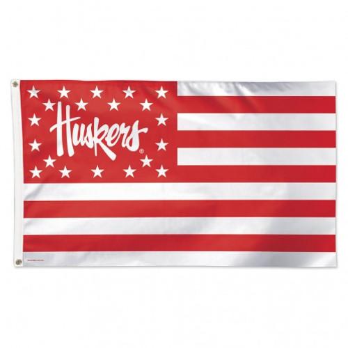 Nebraska Cornhuskers Flag 3x5 Deluxe Stars and Stripes